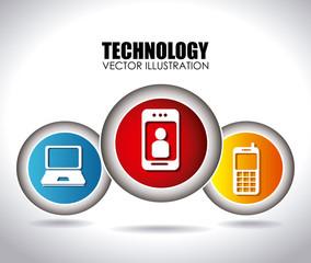 Technology design over white background vector illustration.