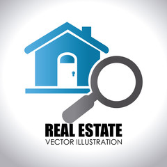 Real estate design over white background vector illustration