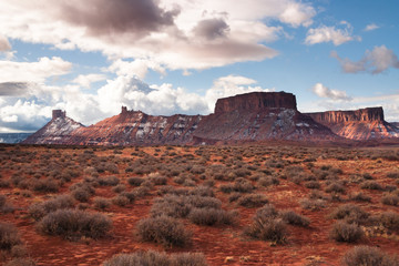 Scenic route near Arches Park, Utah, USA