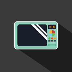 Vector of Microwave long shadow style