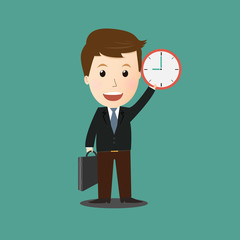 Vector of businessman concept.time
