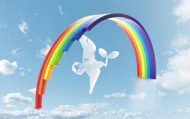 虹と雲の鳥