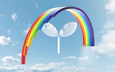 虹と雲の双葉