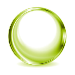 Green blurred circle shape design