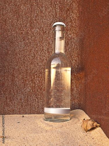 canvas print picture Flasche - Wasser - Getränk