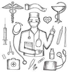 Set of medical supplies