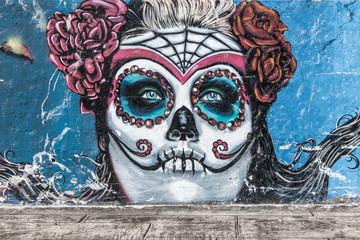 background graffiti catrina