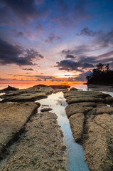 colourful sunset at tips of borneo