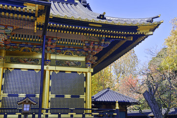 Toshogu Shrine in Ueno Park, Tokyo, Japan