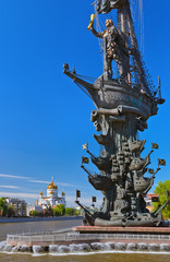 Monument to Peter the Great and Cathedral of Christ the Savior -