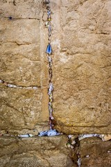 Western Wall and people notes