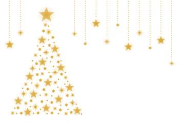 クリスマスツリーテンプレート ゴールド