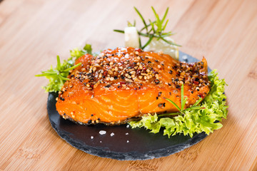 Piece of Smoked Salmon