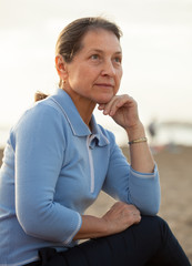 mature woman on  beach