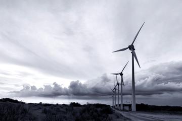 Bozcaada island windmillls, in Canakkale, Turkey