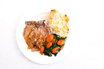 pork chops with potato gratin