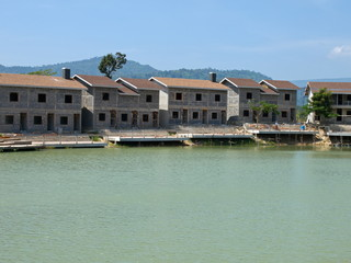 Unfinished buildings at The Verona Complex