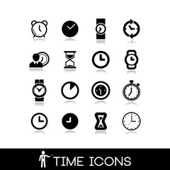 Time icons - Set black 9