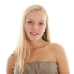 Blond teen girl