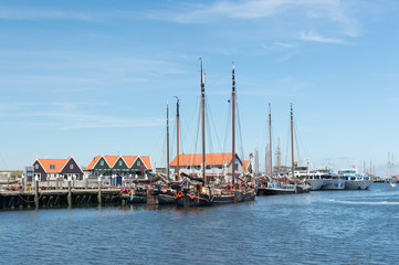 Small harbor Dutch island Texel