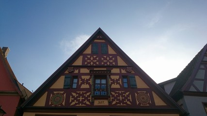 Historisches Haus in rothenburg ob der tauber
