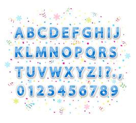 Blue Christmas alphabet