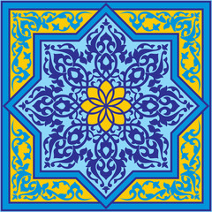 classic antique islamic  vector ornament