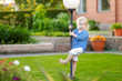 Cute little girl having fun on a summer day