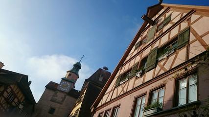 Hausfassade Altstadt rothenburg ob der tauber