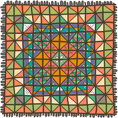 Multicolored patchwork pattern in free style
