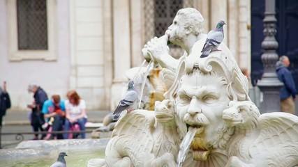 Рим. Италия. Фонтан на площади Навона