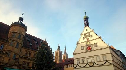 Weihnachten ratstrinkstube und Rathaus rothenburg