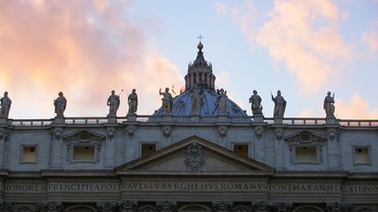 Рим. Собор Святого Петра. Ватикан. Вечер