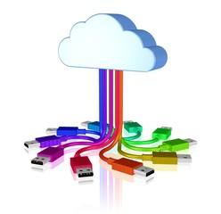 Wolke mit USB-Steckern