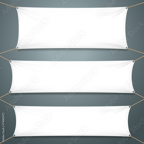 Empty White Banners - 74065473