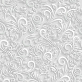 Photo: Floral 3d Seamless Background