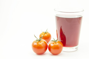 Drink juice with tomatoes ingredient