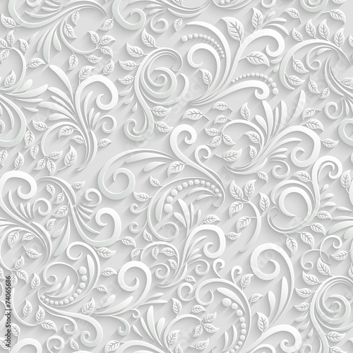 Floral 3d Seamless Background