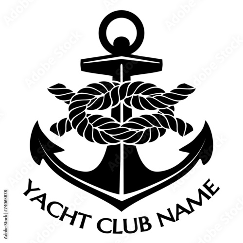 Black and White Yacht Club Logo - 74065878