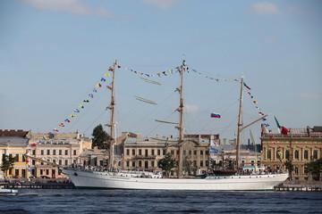 barque Cuauhtemoc visit to St. Petersburg