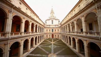 Римский дворик. Библиотека