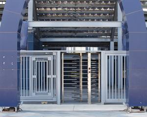 security turnstile outdoor metal controll