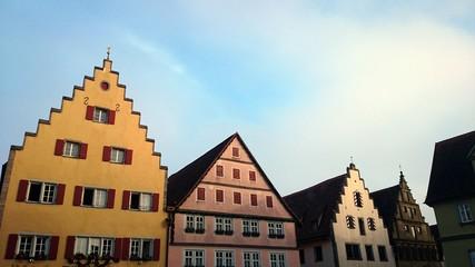 Historische häuser Altstadt rothenburg