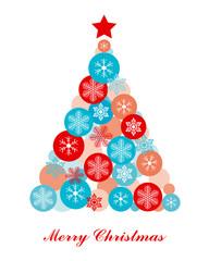 Christmas card. Christmas tree