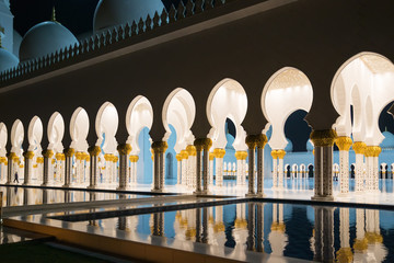 Night Sheikh Zayed Mosque in Abu Dhab