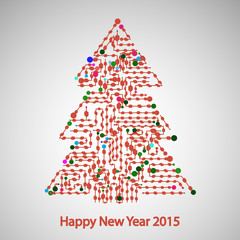 Circuit board, Tree for the new year