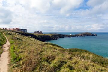 Coast path The Headland Newquay Cornwall England UK