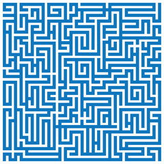 Maze labyrinth blue