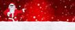 Leinwanddruck Bild - Weihnachtsmann / Weihnachtlicher HG
