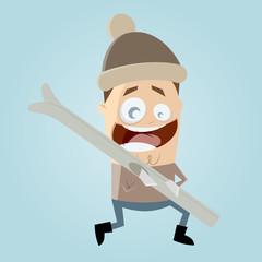 ski tragen mann